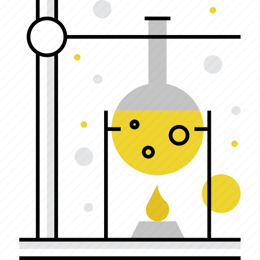 boil, boiling, chemistry, experiments, flask, lab, reaction icon