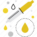dropper, lab, liquid, pipette, sample, test, testing icon