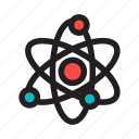atom, biology, chemistry, lab, molecule, physics, science icon