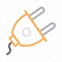 adapter, connector, plus, switch, wire icon