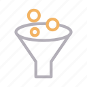 filter, funnel, lab, science, sort icon