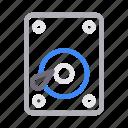 harddrive, hardware, memory, storage, technology icon