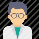 avatar, scientist, face, man