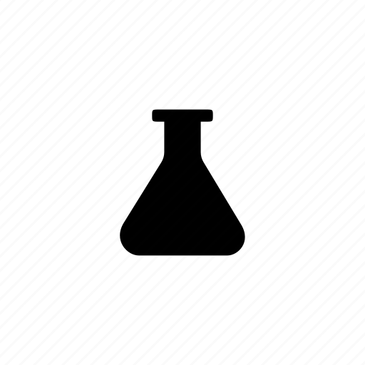erlenmeyer, flask, science icon