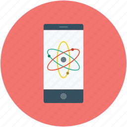 atomic sign, display, mobile screen, screen, tablet icon
