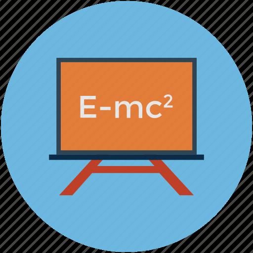 einstein formula, formula of relativity, physics, relativity formula icon