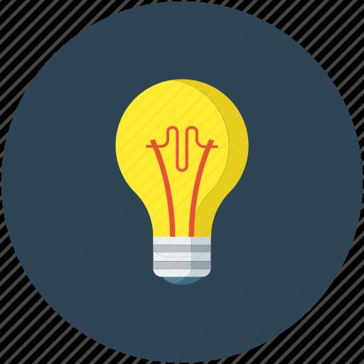 bulb, light, light bulb, power icon