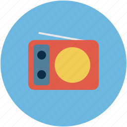 old radio, radio, retro, wireless icon