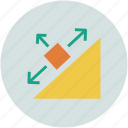 arrows, directions, shape, shapes icon