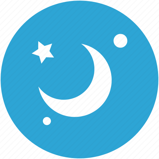 moon, night, space, stars icon