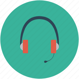 earphone, headphone, headphone with mic, headset icon