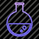 flasks, lab, laboratory, research, science, scientific, tube icon