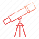 laboratory, research, science, scientific, telescope icon