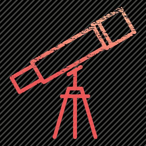 laboratory, research, science, scientific, telescope icon