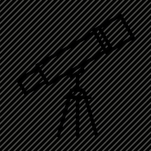 astronomy, search, space, spyglass, telescope icon