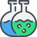 chemistry, flasks, science, test, tube icon