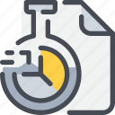 chemistry, document, file, flasks, laboratory, science, study icon