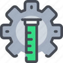 chemistry, flasks, gear, laboratory, science, test, tube icon