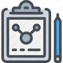 chemistry, document, file, laboratory, report, science icon