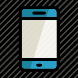 digital, phone, screen, setting icon