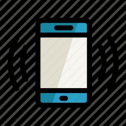 digital, phone, screen, setting, vibro icon