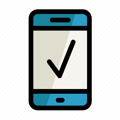 digital, phone, screen, setting, yes icon