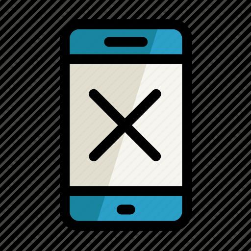 digital, error, no, phone, screen, setting icon
