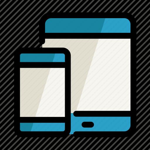 digital, phone, screen, setting, tablet icon