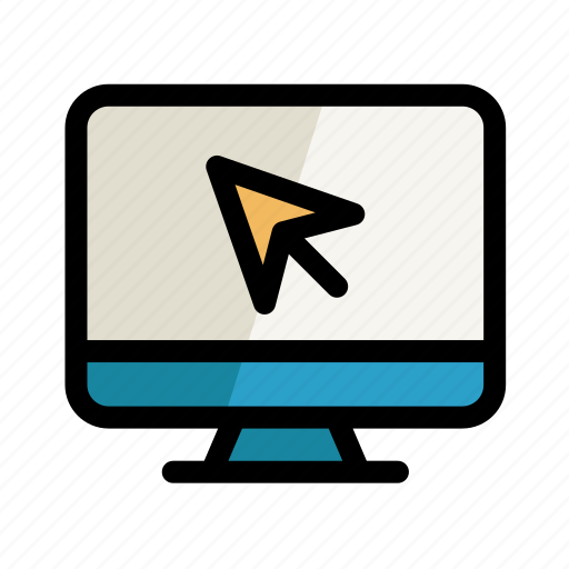 arrow, computer, cursor, digital, pc, screen, setting icon