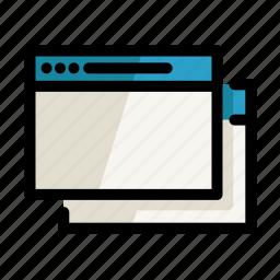 browser, copy, digital, pc, screen, setting, window icon