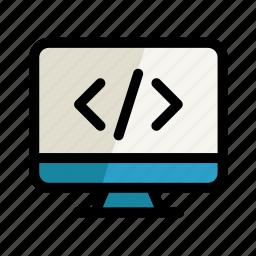 code, coding, computer, digital, pc, screen, setting icon