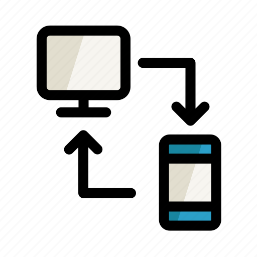 computer, digital, network, pc, phone, screen, setting icon