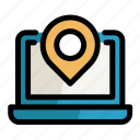 computer, laptop, place, placeholder, point, screen, setting icon