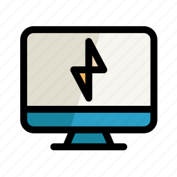 computer, digital, flash, pc, screen, setting icon