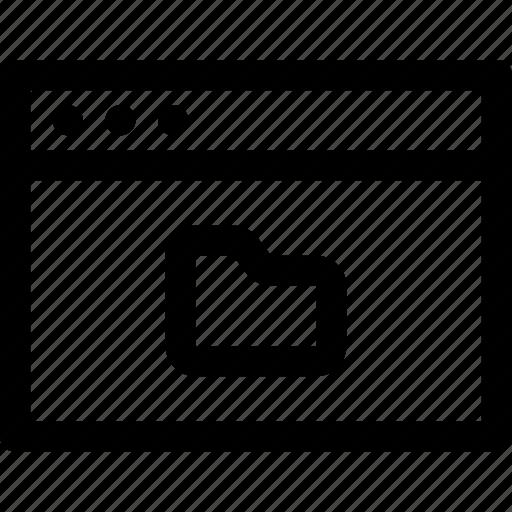 browser, computer, files, folder, internet, media, screen icon
