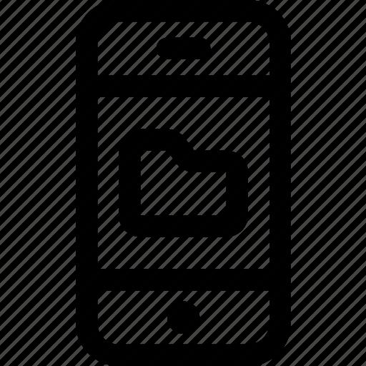 device, files, folder, internet, mobile, phone, screen icon