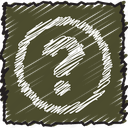 communication, faq, help, information, question, scribble, support icon
