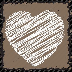 bookmark, bookmarks, favorite, heart, like, love, scribble icon