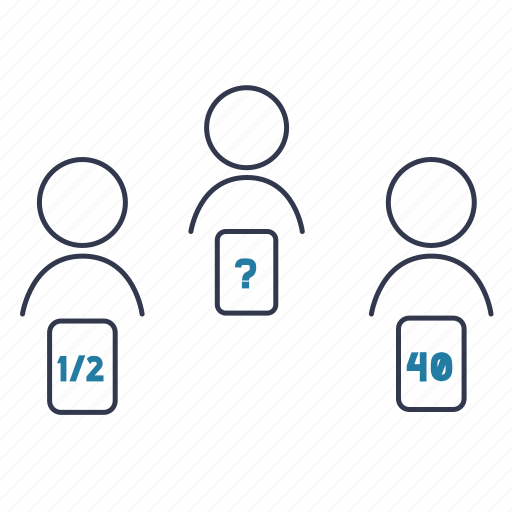 agile, planning poker, point, scrum, scrum poker icon