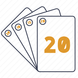 cards, credit, poker, scrum, story points icon