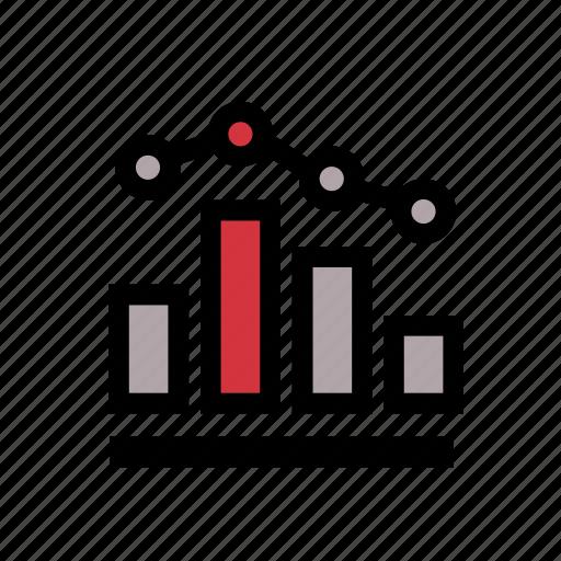 agile, chart, data, scientist, scrum, time series, visualization icon