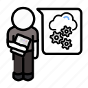 agile, cloudops, dev-ops, devops, infrastruction, scrum, webops icon