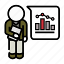 agile, data, probability, scientist, scrum, statistics, stats icon