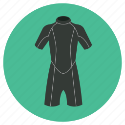 dive suit, diving, dry suit, equipments, scuba, suit, wet suit icon