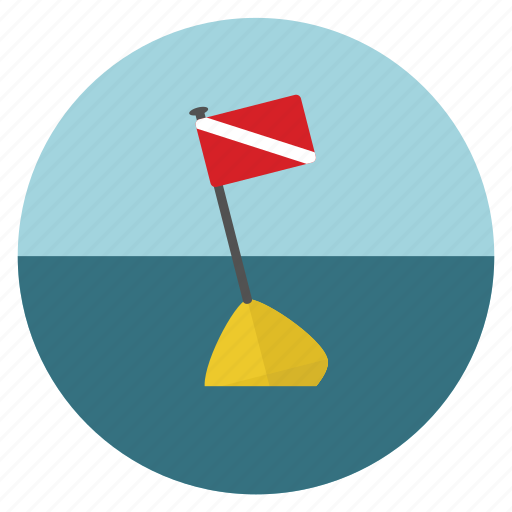 buoy, dive flag, diving, diving flag, equipments, flag, scuba icon