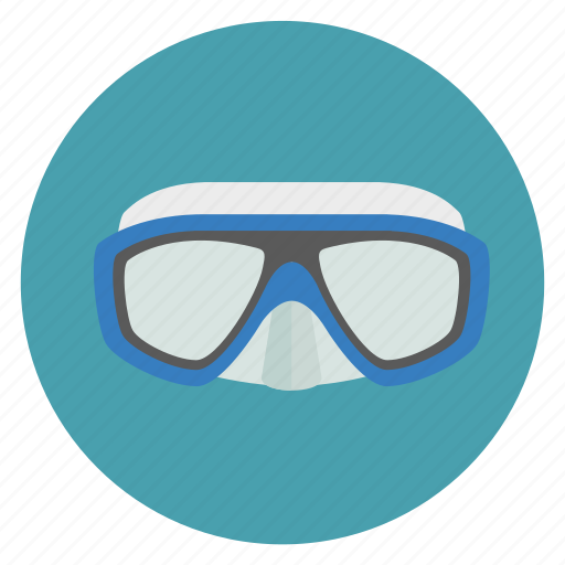 dive, diving, equipments, glass, mask, scuba, snorkel, snorkeling, vision icon