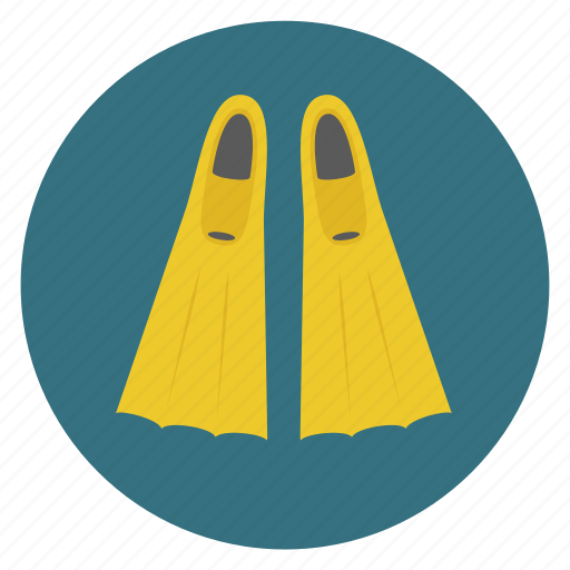 diving, equipments, fins, flipper, scuba, snorkel, snorkeling icon