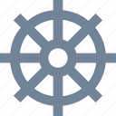 activities, leisure, ship, sports, steering wheel icon