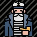 boat, ship, sailor, captain, adventure icon