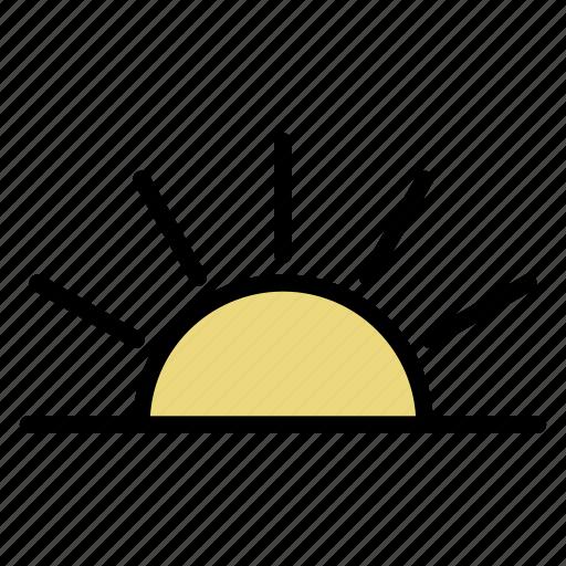 brightness, morning, sun, sunrise, sunset icon